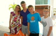 The boys with Michelle, our wonderful Brazilian Portuguese teacher. We have learned so much! Muito Obrigada Michelle.