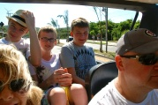 Going for the crazy bumpy loud buggy ride. The boys loved it!