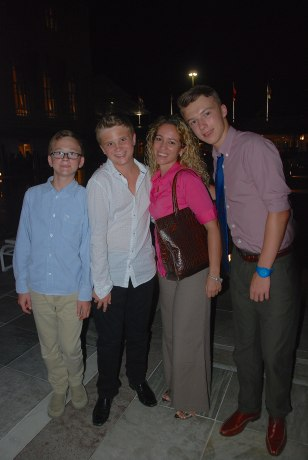 "The boys with their older ""sister"" Michelle!"