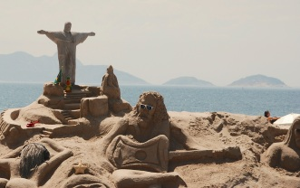 Lots of crazy sand sculptures.