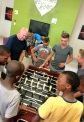 Dave and the boys having fun with fuseball.