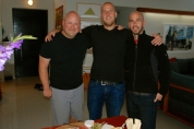 Love the three bald guys in black! Dave, Ben and Roger.