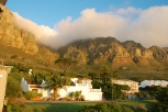 Another view from our home here - I love the way the clouds come pouring over the mountain.