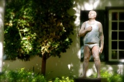 Interesting art at this particular winery... not sure of this guy in his underwear!