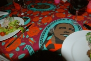 Carol, Carol..... that is an awesome crazy tablecloth!