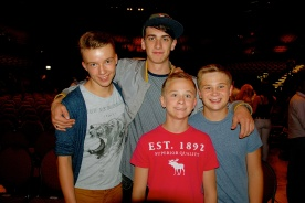 Josh, Matt & Sam with Rhys - he is so amazing and the boys will miss him so much.