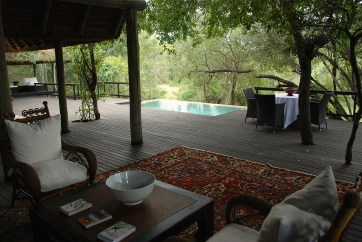Our deck and pool area. Elephants often come up to the pool to drink but we were not fortunate enough to see this.