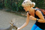Ha - my face looks a bit concerned feeding a kangaroo for the first time. Nothing to worry about though - they nibble your hand so lightly - too cute!