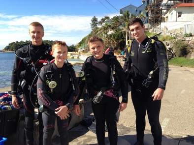 The divers in their group.