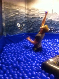 Apparently never too old for a ball pit!
